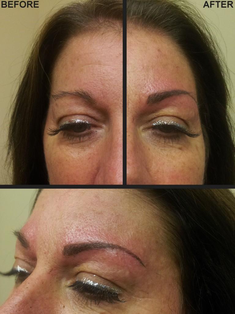 permanent makeup eyebrows by Justyna Kurzelowska