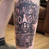 Black country tattoo by Justyna. #blackcountry #darkrosetattoo #justynakurzelowska #birmingham