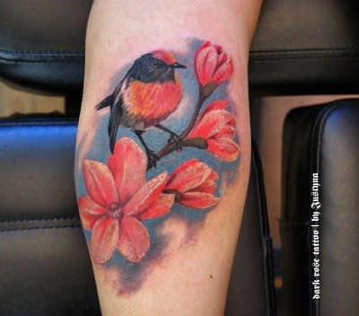 Robin leg piece done today by Justyna. #colortattoo #darkrosetattoo #tatuażkolorowy #where_they_tatt #cheyennetattooequipment