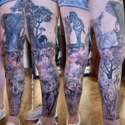 Beautiful Africa tattoo by Justyna. #tattoo #fullsleevetattoo #darkrosetattoo #tatuaż #africatattoo