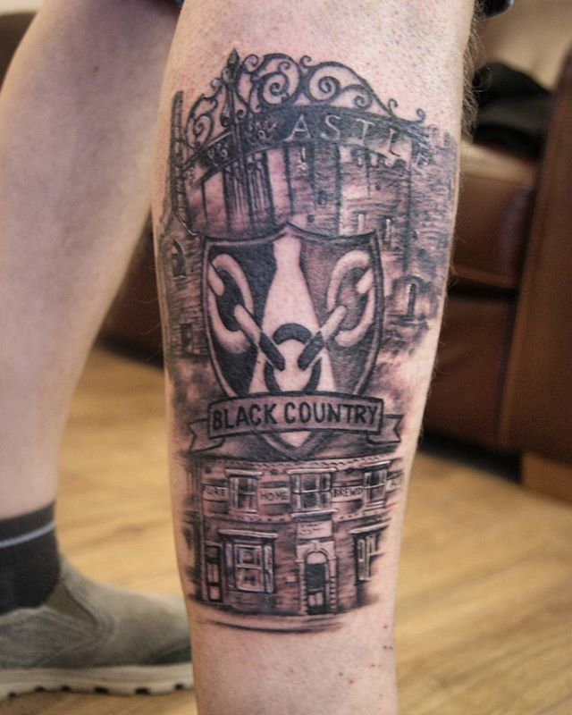 Black country tattoo by Justyna. #blackcountry #darkrosetattoo #justynakurzelowska #birmingham