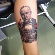 The Godfather tattoo by Justyna. #justynakurzelowska #darkrosetattoo #thegodfather #mariopuzo #vitocorleone