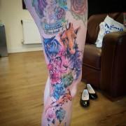 Animals in watercolour style, tattoo done by #JustynaKurzelowska @darkrosetattoo
