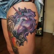 Unicorn tattoo done today by #JustynaKurzelowska @darkrosetattoo  Used to create this: @radiantinklab @eternalink @cheyenne_tattooequipment  @dermalizepro