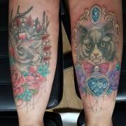 Tattoos by #JustynaKurzelowska @darkrosetattoo (left healed, right finished today)