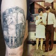 Portrait Tattoo (healed) done by #JustynaKurzelowska @darkrosetattoo