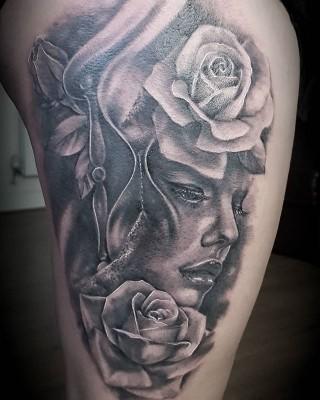 Tattoo done by #JustynaKurzelowska @darkrosetattoo