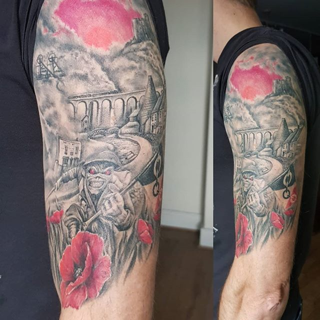The Black Country, tattoo (healed) by #JustynaKurzelowska @darkrosetattoo