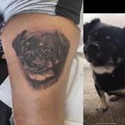 Today's work portrait tattoo by #JustynaKurzelowska @darkrosetattoo