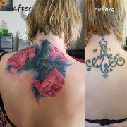 Today's work, beautiful and challenging coverup tattoo by #JustynaKurzelowska @darkrosetattoo  Dark Rose Tattoo is on Christmas break from 16th December until 3rd January. If you would like to purchase Christmas gift vouchers we sell them only until Saturday.