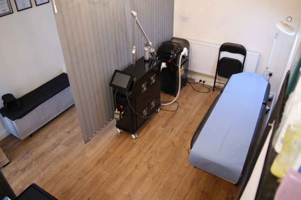 Dark Rose Tattoo treatment room